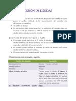 NOTAS CESIÓN DE DEUDAS EXTINCION OBLIGS