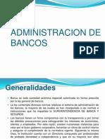 ADMINISTRACION DE BANCOS