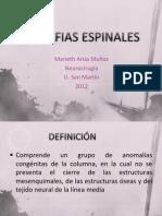 DISRAFIAS ESPINALES