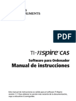 TI-NSpireCAS Software Guide ES