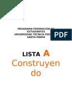 PROGRAMA FEDERACIÓN DE ESTUDIANTES usm