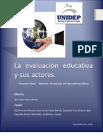 La Evaluacion Educativa y Sus Actores Eze