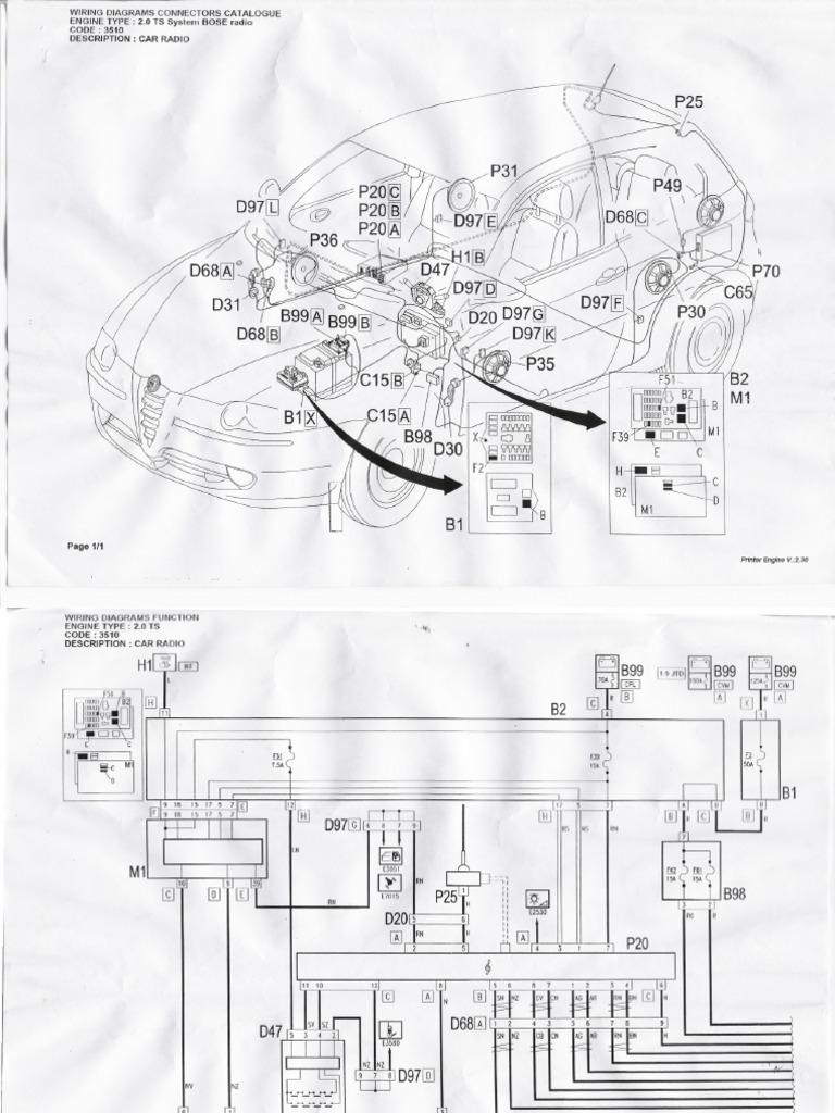 alfa romeo 147 stereo wiring diagram alfa romeo engine