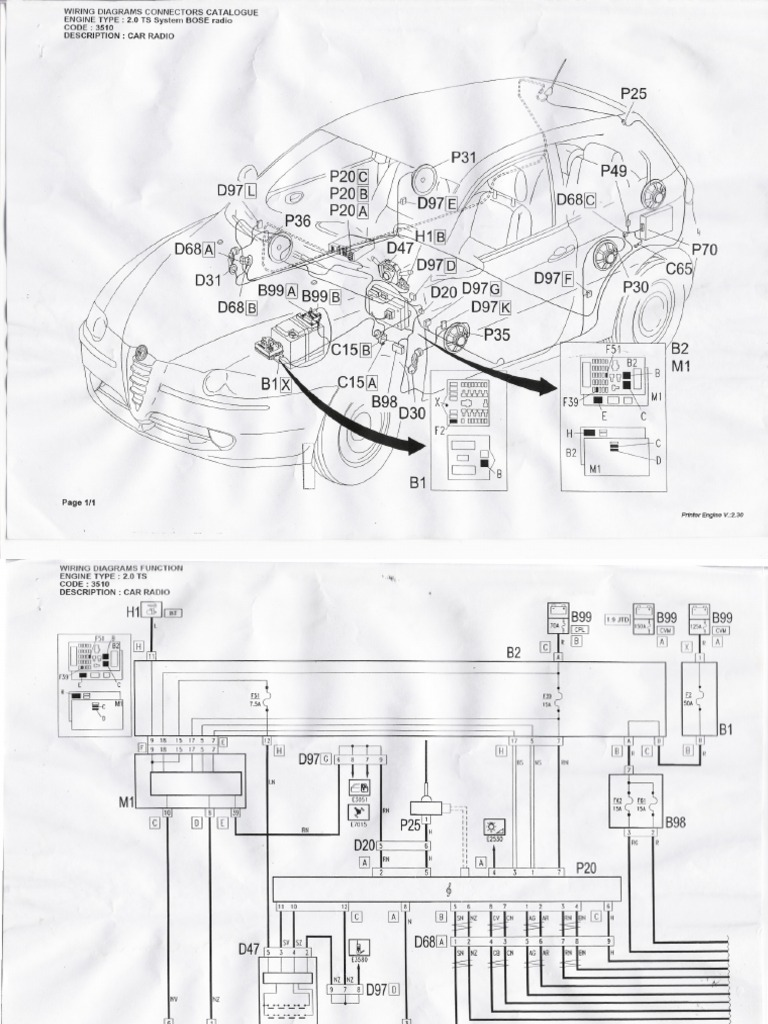 Alfa Romeo Radio Wiring Change Your Idea With Diagram Design Spider Engine Assembly 147 Stereo Mito