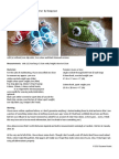 Crocheted Baby Converse
