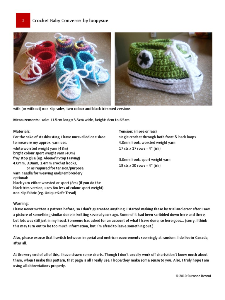 Crocheted Baby Converse  1b4137797