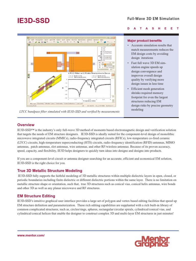 ie3d-ssd-ds | Simulation | Antenna (Radio)