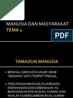 MANUSIA & MASYARAKAT