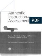 Authentic Instruction & Assessment