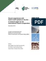 TarifsD'AchatEuropeIFIC Feed-In Evaluation Nov 2010