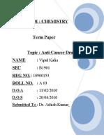 CHE 101 Term Paper