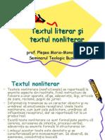 textul literar+textul nonliterar