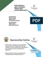 2009 Alberta Open Sponsorship Proposal March