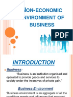 Non-Economic Environment of Business