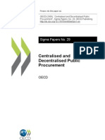 Central is Ed and Decentralised Procurement