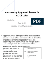 Calculating Apparent Power in AC Circuits