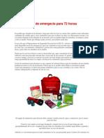 El Kit de Emergecia Para 72 Horas