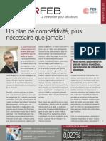 Un plan de compétitivité, plus nécessaire que jamais !, Infor FEB 13, 19 avril 2012