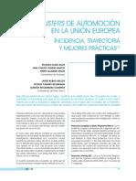 Los clusters de automoción en la Unión Europea (Es)/ Automotive clusters in the European Union (Spanish)/ Automozio klusterrak Europar Batasunean (Es)