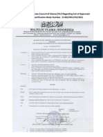 List of Approved Foreign Halal Certification Bodies--- 29 Maret 2012