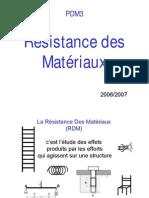 Resistance Des Materiaux