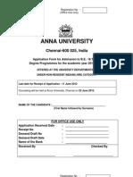 Anna University Form