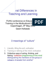 FBE Geert Hofstede Teaching Learning