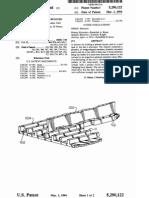Printed circuit board retainer (US patent 5290122)