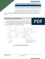 A Simple Pressure Sensor Signal Conditioning Circuit