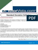 Standard Deviation Definition