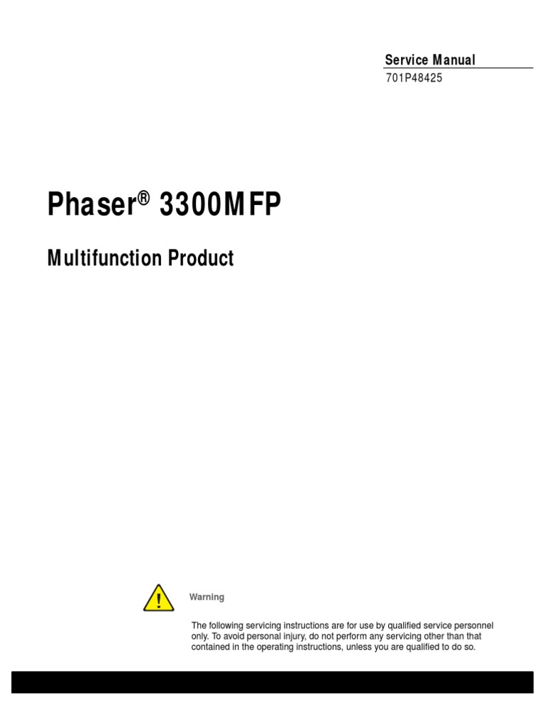 Phaser 3300 Service Manual[1] | Electrostatic Discharge | Electromagnetic  Interference