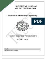 EEE III year oops lab manual