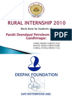 DEEPAK FOUNDATION Rural Intership 2010 Report of TARIQ SINDHI