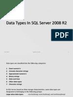 SQL Server - DataTypes