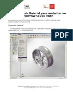 Como Inserir Material Para Renderizar No Photo Works 2007
