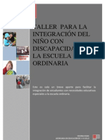 TALLER  PARA LA INTEGRACIÓN DEL NIÑO CON DISCAPACIDAD