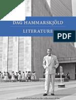 Dag Hammarskjöld Litterature