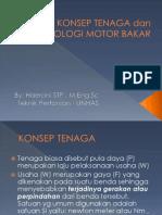 Konsep Tenaga Dan Terminologi Mesin