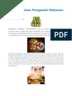 Bahaya Bahan Pengawet Makanan