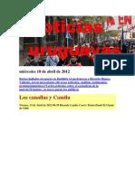 Noticias Uruguayas miércoles 18 de abril de 2012