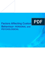 Factors Affecting Customer Behaviour- Personal and Psychological
