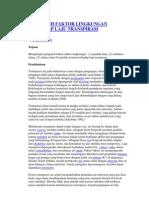 Pengaruh Faktor Lingkungan Terhadap Laju Transpirasi