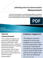 Rethinking Internal Communication Measurement