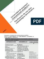 Planificacion de una clase metodológica demostrativa