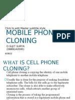 Mobile Phone Cloning