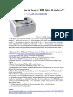 Men Gin Stall Printer Hp LaserJet 1010 Driver Di Windows