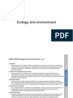 Lecture 1 Ecology and Environment