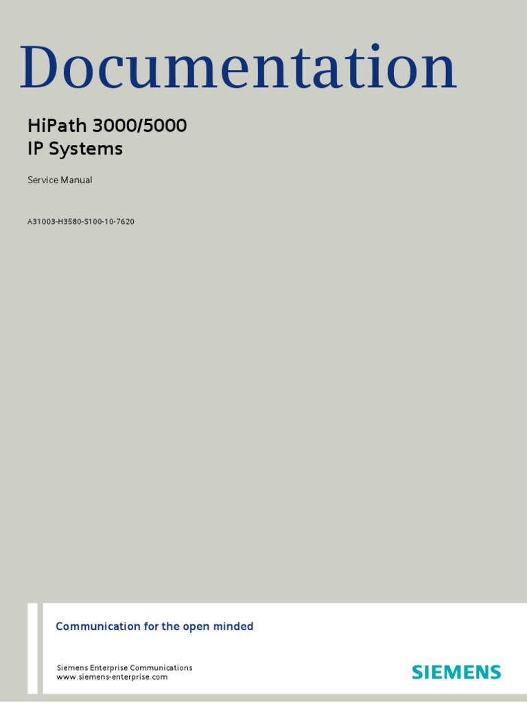 hipath 3000 5000 v8 service manual issue 10 virtual private rh es scribd com Siemens PBX System Siemens USA
