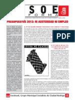 PSOE INFORMA Abril 2012