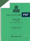 Cesar Franck - Sonata in a Major (Arr. Eugene Levinson), Double Bass